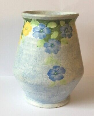 Small Art Deco E. Radford Floral Hand Painted Vase • 22£