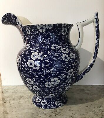 LORD NELSON WARE Large Blue Floral Design Jug Excellent Condition • 15£