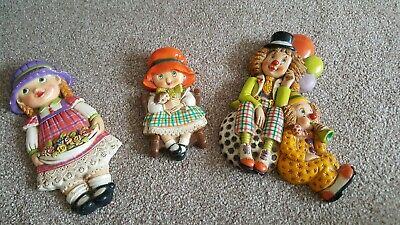 Nursery / Children's Wall Ornaments X3 Excellent Condition • 6.99£
