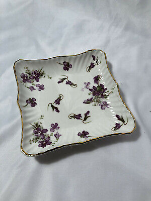Hammersley English Bone China Porcelain Victorian Violets Square Dish, 5  X 5  • 16.20£