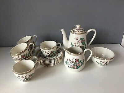Vintage Lord Nelson Indian Tree Coffee Set - 15 Pieces • 42£