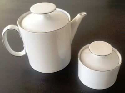 Thomas Silver Band Teapot & Sugar Bowl • 12£