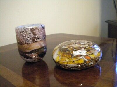 Gozo Art Glass Small Vase And Paperweight • 16£