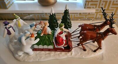 Coalport Characters The Snowman Father Christmas The Sleigh Ride Home • 185£