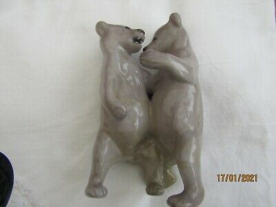 Royal Copenhagen Pair Of Bears,  Very Early Pre 1913 1st Quality. Fault. • 40£