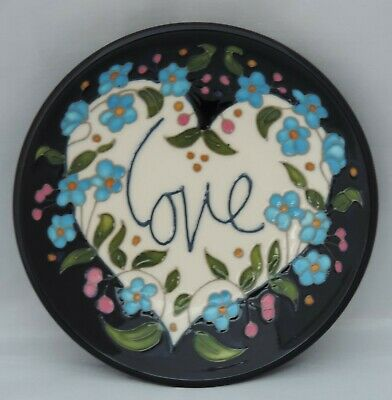 Moorcroft Loved Up Tray - 780/4 - Numbered - Valentine 2017 - Broad Florals • 100£