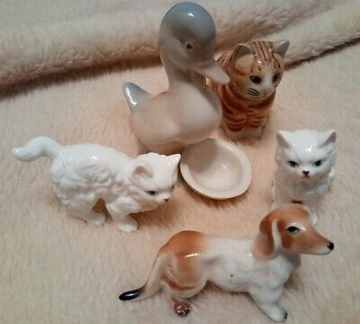 Selection Of Small Vintage Animal Ornaments Collectable Mixed Cats  • 1.50£