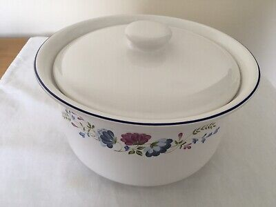 Large Lidded Circular Shaped BHS Priory Tableware Stew Casserole Vegetable Pot • 18.50£
