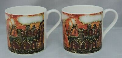 2 X Anita Harris Art Pottery Mugs In Potteries Past Design - Signed To Base • 40£