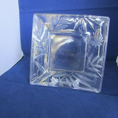 Clear Cut Glass Picture Frame  Made In Japan  7.75  Across 7.75  Tall  • 4.76£