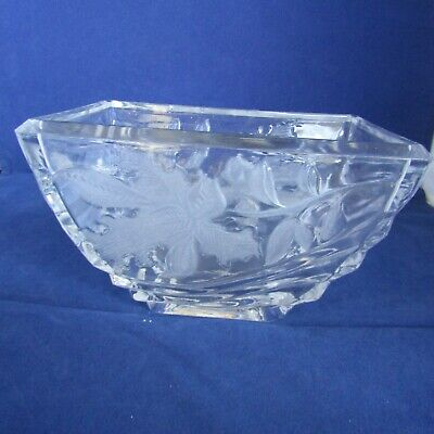 Clear Cut Glass Dish Vase Made In USA  6  X 4   Across 3.75  Tall  • 4.76£