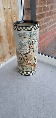 "Beautiful ""Peacock Amongst The Flowers"" Vase, Pottery. • 5£"