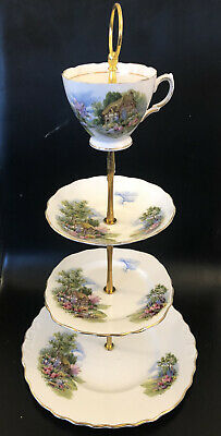 Vintage Royal Vale Country Cottage Cake Stand  • 7.99£