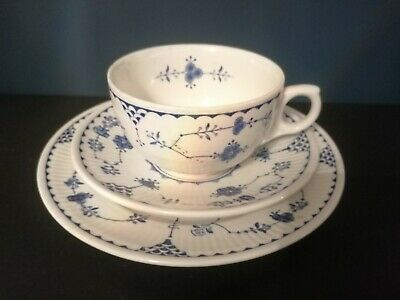 Furnivals Blue Denmark Cups, Saucers & Side Plates • 4.75£