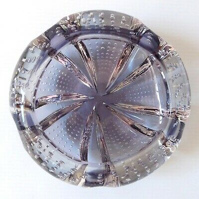 1974 Whitefriars 9778 Controlled Bubble Lilac Art Glass Bowl/dish. Vintage 5  • 44.99£