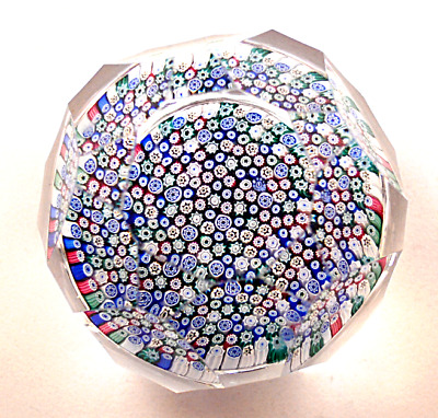 Whitefriars P10 Large Window Cut Glass Paperweight 1978 • 150£