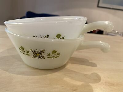 Pair Of Anchor Hocking Fire King Soup Bowls • 3.50£