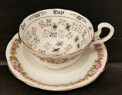 Vintage Aynsley Fortune Telling Cup And Saucer  • 45£
