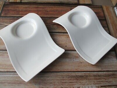 2 X Villeroy And Boch New Wave Caffe Party Plate His & Hers Valentines?? • 5.99£