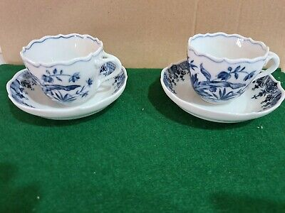 Meissen - 2 Coffee Cups And Saucers • 50£