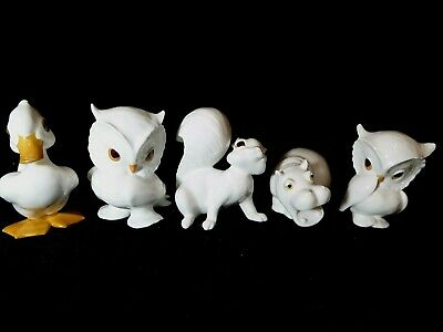 Four Perfect Royal Osbourne  Figures Squirrel Hippo Duck Owl  • 45£