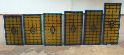 19 X Beautiful Pieces Of Coloured Leaded Glass Panels Stunning • 750£