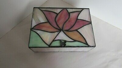 Stained Glass Floral Jewellry Box • 13£