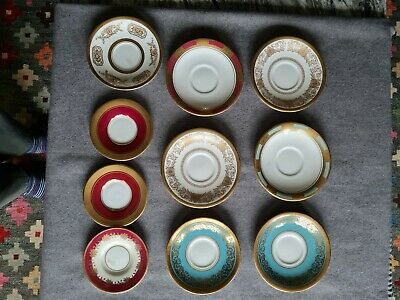 Ansley 10 X Assorted Saucers. Samples • 10£
