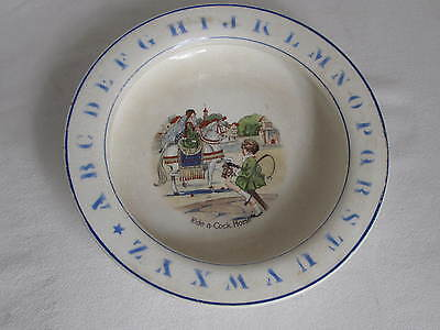 Antique Baby Plate Bowl  Ride A Cock Horse  • 18.42£