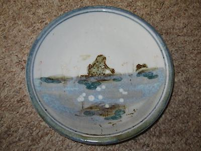 Humourous HIGHLAND STONEWARE SCOTLAND Hand Painted FROG Wall Plate 20cm #3 • 39.99£