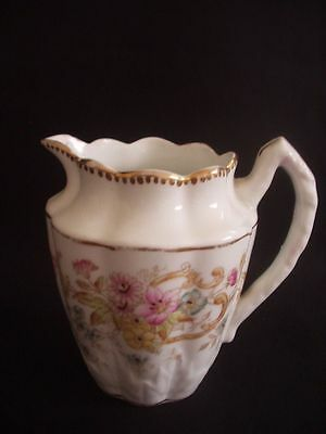 Victorian Milk/cream Jug -attractive Floral Pattern With Gilding • 7.99£