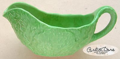 Carlton Ware: Lettuce Leaf Small Sauce Boat : 5¼  Long • 7.99£