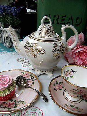 Antique Rockingham? Coalport? Spode? Rococo Style Footed Teapot Gold Victorian • 29.95£