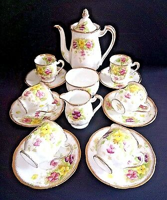 Royal Standard Stunning Full Coffee Set Charmaine Pattern  -  Great Condition   • 55£