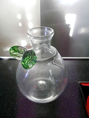 Rare Early Scottish Lindean Mill Glass Pear Vase Signed 1981 • 24£