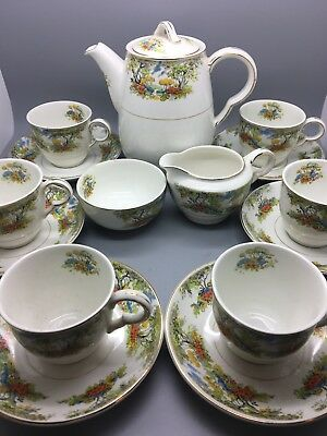Maddock Royal Vitreous England 15 Piece Coffee Set In A Woodland Pattern  • 39.95£