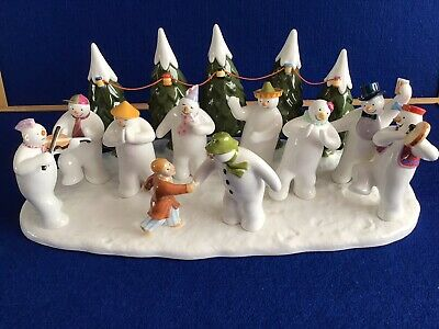 Coalport Snowmen's Snowman's Party-New With Box And Certificate • 499£