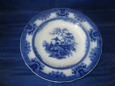Antique Davenport Flow Blue Amoy Pattern 26.5cm Plate C1820-60 • 34.99£