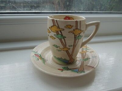 Clarice Cliff Coffee Cup And Saucer • 65£