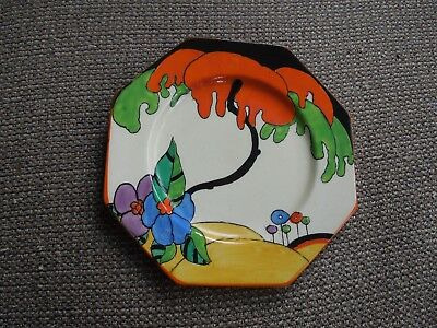 Lovely Clarice Cliff Woodland Octagonal Tea Plate - Stunning! • 250£