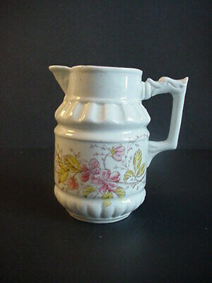 Antique Porcelain Creamer Hand Painted Flowers Duck Handle • 29.70£