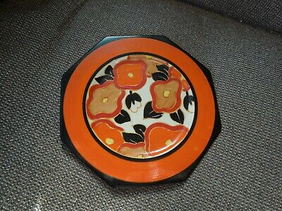 Lovely Clarice Cliff Orange Chintz Octagonal Tea Plate - Stunning! • 175£
