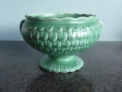 Sylvac - 2708 - Round - Green - Vase / Bowl - With Metal Frog • 39.99£