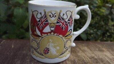 1982 Falkland Island Caverswall Commemorative China Mug All Services Listed • 19.99£