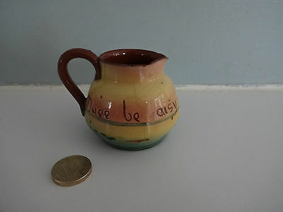 Vintage Motto Ware Torquay/Devon Pottery -small Jug  Duee Be Aisy  Approx 2.5  T • 4.99£