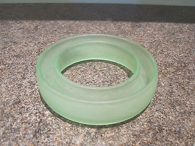 Vintage Bagley - Green Frosted Glass - Posy Ring • 12.99£