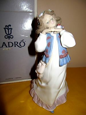 LLADRO COLLECTORS SOCIETY FIGURE DREAMS OF A SUMMER PAST 1977,box&certificate • 115£