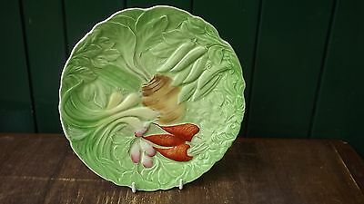 Vintage Royal Winton Embossed Plate With Vegetables Pattern Fully Stamped • 22.99£