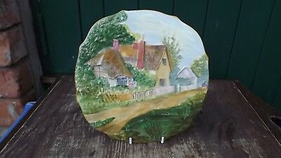 Vintage Royal Winton Rubian Art Olde England Series Plate Of Country Cottage  • 24.99£