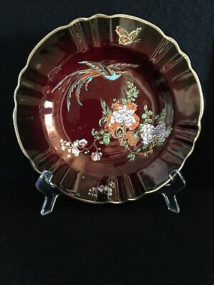 Carlton Ware Rouge Royale Bird Of Paradise Fluted Plate • 49.95£
